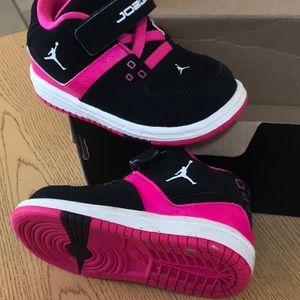 Nike Shoes - Used Jordan 5c flight low toddler shoes pink 23
